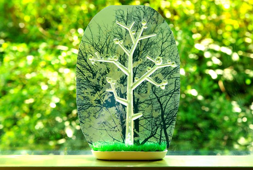 Plasticboom - foto op kunststof boom in bak